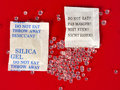Dessicant, silica gel Royalty Free Stock Photo