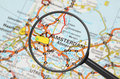 Destination - Amsterdam (magnifying glass) Stock Photography