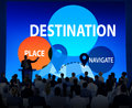 Destination navigate exploration place travel concept Stock Photography