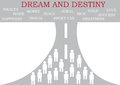 Destiny path symbol vector illustration showing dream and Royalty Free Stock Images