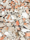Destroy home brick close up Royalty Free Stock Images