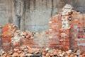 Destroyed brick wall Royalty Free Stock Photography