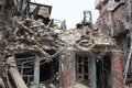 Destroyed Building in Kathmandu, Nepal after 2015 Earthquake Royalty Free Stock Photo