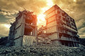 Destroyed building Royalty Free Stock Photo