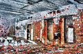 Destroyed and burned the interior of the old house Royalty Free Stock Photography