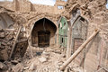 Destroyed house and store of the old Persian bazaar in Isfahan