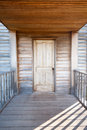 Det front porch door historic civil kriget henry house manassas national battlefield parkerar Royaltyfri Bild