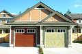 Detached Garages Residential Housing Royalty Free Stock Photo