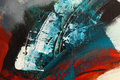 Detail of abstract acrylic painting without title Royalty Free Stock Image