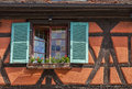 Detail of an alsatian house a specific half timbered Stock Photo