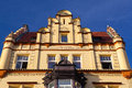 Detail of amazing  facade of traditional building in Prague Royalty Free Stock Photo