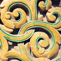 Detail of ancient ceramic pattern, China Royalty Free Stock Photo