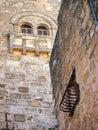 Ancient Stonework, Church of the Nativity, Bethlehem Royalty Free Stock Photo