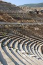 Detail of the ancient theater in ephesus Stock Photo