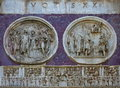 Detail of the Arch of Constantine - landmark attraction in Rome, Italy