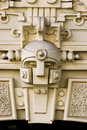 Detail of Art Nouveau building Stock Images