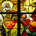 Stained Glass Window, St. Vitus Cathedral, Prague Castle, Czech Republic