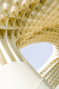 Detail of artwork in sevilla photo with round and square shapes modern art metropol parasol the center seville spain Royalty Free Stock Photos