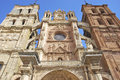 Detail of astorga s cathedral facade leã n castilla y leã n spain Royalty Free Stock Images