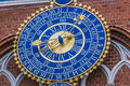 Detail of astronomical clock on the House of Blackheads, Riga, L Royalty Free Stock Photo