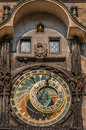 Detail at astronomical clock in the old town square prague czech republic Royalty Free Stock Images