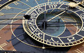A detail of the astronomical clock in Prague, Czec Stock Photos