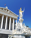 Detail of Austrian Parliament, Vienna Royalty Free Stock Images