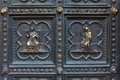 Detail of baptistery bronze door florence italy Stock Images