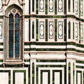 Detail of basilica di santa maria del fiore in summer Stock Photo