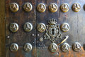Detail of beautiful old door in Sevilla, Spain Royalty Free Stock Photo