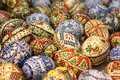 Detail beautiful painted eggs easter Stock Photos