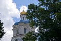 Detail of the bell otower of Collegium, in Chernihiv Royalty Free Stock Photo