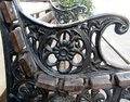 Detail of bench in the park Royalty Free Stock Photo