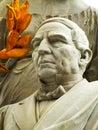 Detail of a Benito Juarez sculpture Royalty Free Stock Photo