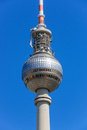 Detail of berlins television tower a televsion on alexanderplatz Stock Photos