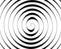 Detail of a black spiral on white Royalty Free Stock Photo