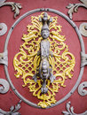 Detail blacksmithing door church st nicholas cathedral prague Royalty Free Stock Photos