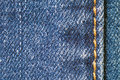 Detail of blue jeans close up Royalty Free Stock Photo