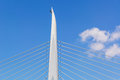 Detail of the bridge across the Golden Horn Bay, Istanbul Royalty Free Stock Photo