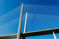 Detail of the bridge across the Golden Horn Bay Royalty Free Stock Photo