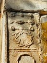 Detail of Byzantine Stonework,  Little Metropolis Church, Athens, Greece Royalty Free Stock Photo
