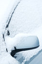 Detail of a car under snow Stock Photos