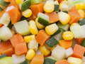 Detail of carrot, potato, pumpkin and corn kernels Royalty Free Stock Photo