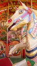 Detail of caruseel horse a carousel from steam fair in bath Stock Photo