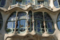 Detail of Casa Batllo, Barcelona Royalty Free Stock Photo