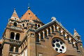 Detail of cathedral in Szeged, Hungary Stock Photos