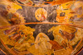 Detail of ceiling in chora church dome at istanbul with parecclesion Stock Photos