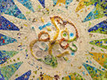 Detail of Ceiling with mosaic Royalty Free Stock Photo