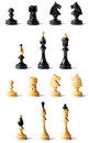 Detail of chess pieces  Stock Images