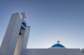 Detail of a church in Ano Koufonisi island, Cyclades, Greece Royalty Free Stock Photo